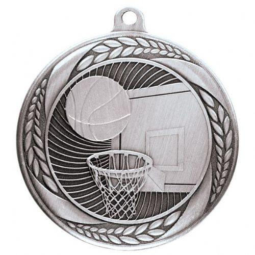 Typhoon Basketball Medal Silver 55mm